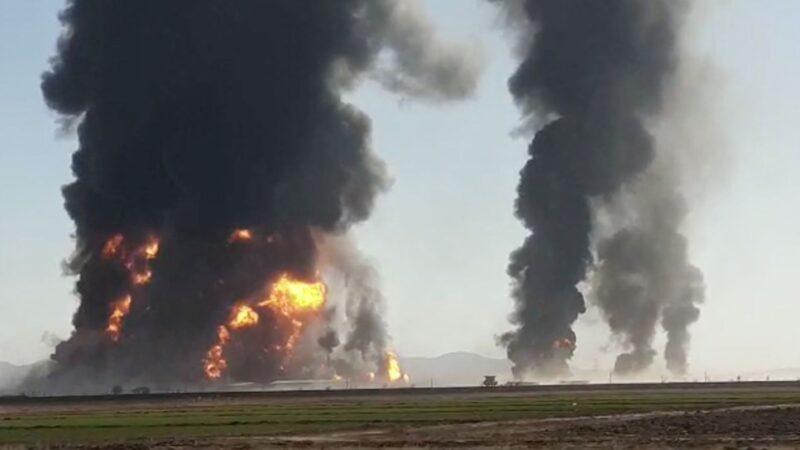 Tanker parkında yangın! Ortalık savaş alanına döndü