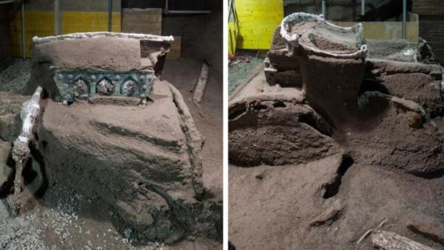 2 bin yıllık tören arabası bulundu