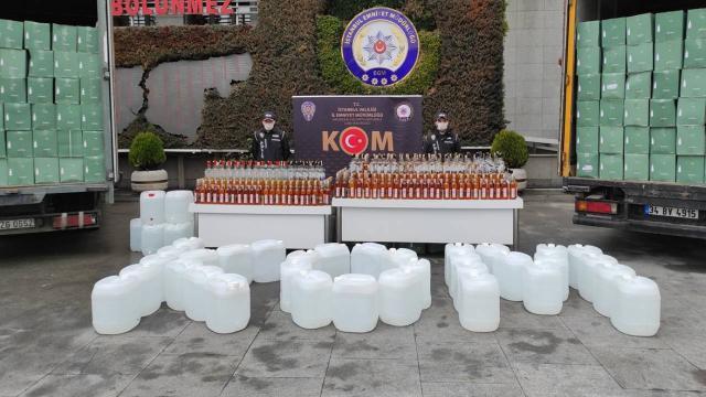 İstanbul'da sahte içki operasyonu: 3 gözaltı