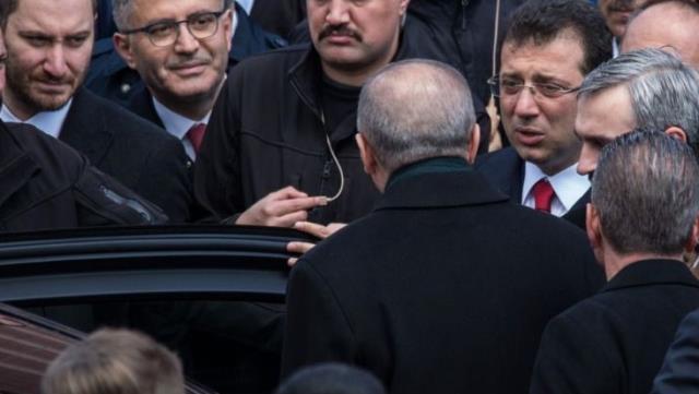 Topbaş'ın cenazesinde sürpriz görüşme! İmamoğlu, Erdoğan'dan iki şey istedi