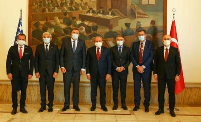 TBMM Başkanı Şentop, Bosna Hersek heyetiyle görüştü