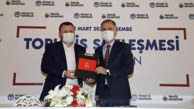 Bursa'nın en iyi sözleşmelerinden birini 'İnegöl Belediyesi' yaptı