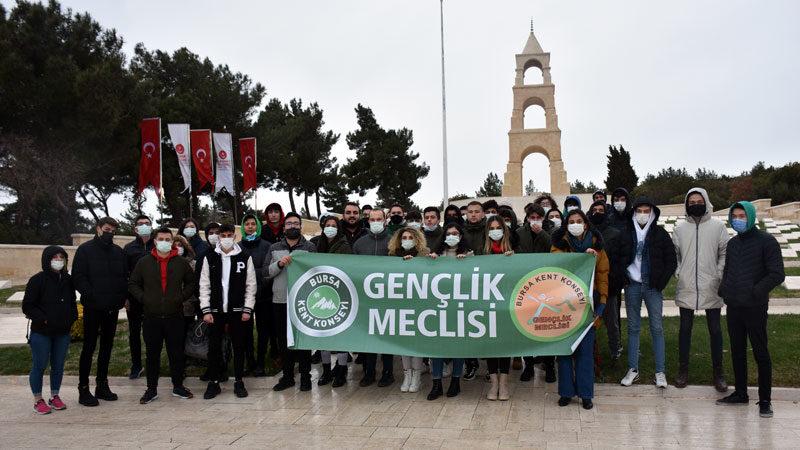 Bursalı gençler Çanakkale'de