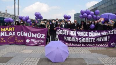 CHP'li kadınlar taleplerini gelecek için haykırdı