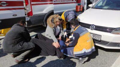 Yer: Bursa… Yolun karşısına geçerken otomobil çarptı