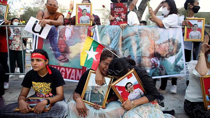 En kanlı gün! BM: Myanmar'da 24 saatte 38 gösterici öldürüldü