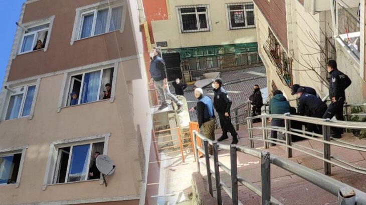 Eşi ve çocuğuyla kendini eve kilitleyen koca 3. kattan atladı