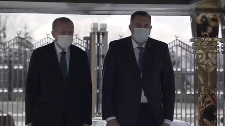 Bosna Hersek heyeti Ankara'da! Cumhurbaşkanı Erdoğan karşıladı