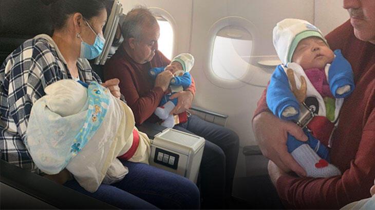 Uçakta korku dolu anlar! Kalp krizi geçiren bebeği milletvekili kurtardı