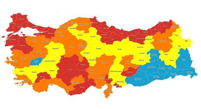 Risk haritası güncellenseydi hangi il hangi renkte olacaktı? İşte yanıtı