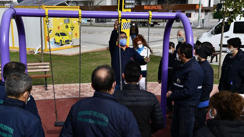 Bursa'da parklarda güvenlik üst seviye çıkıyor