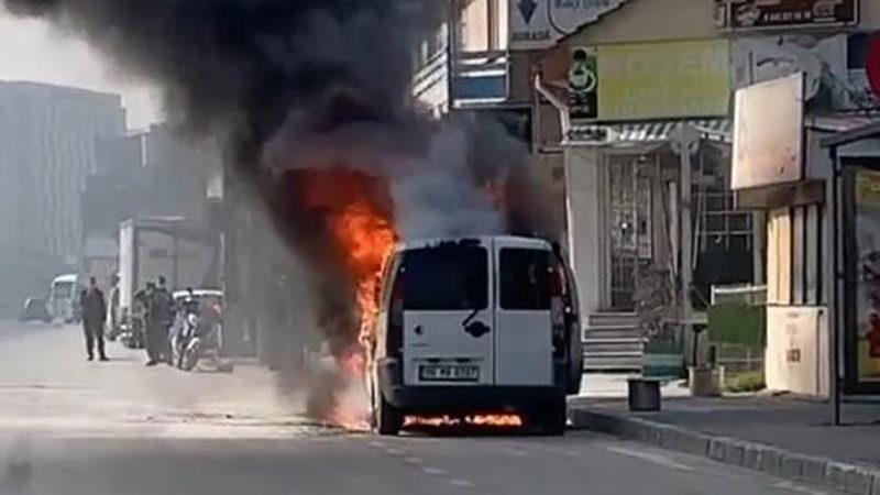 Bursa'da korku dolu anlar! Alev alev yandı