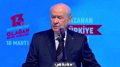 MHP'de Bahçeli yeniden genel başkan…