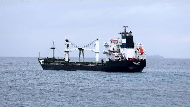 Karaya oturan kuru yük gemisi kurtarıldı