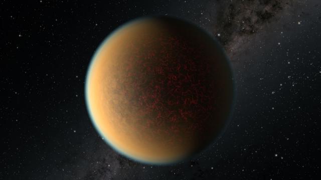Atmosfer oluşturan bir öte gezegen görüntülendi