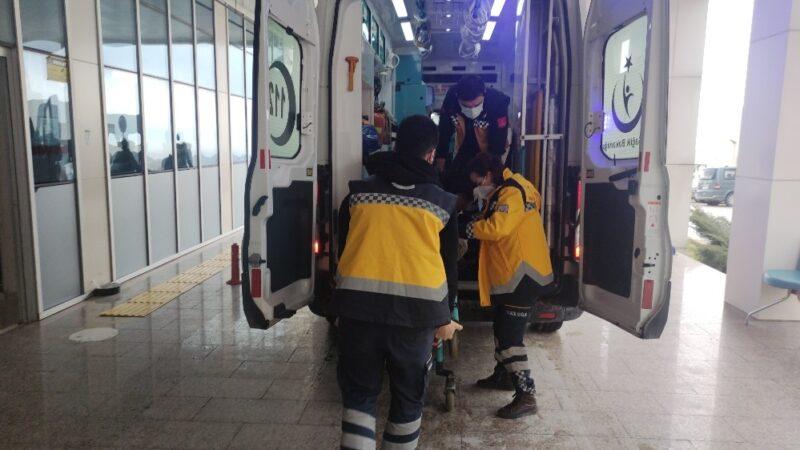 Bursa'da ikinci kattan düşen adam yaralandı