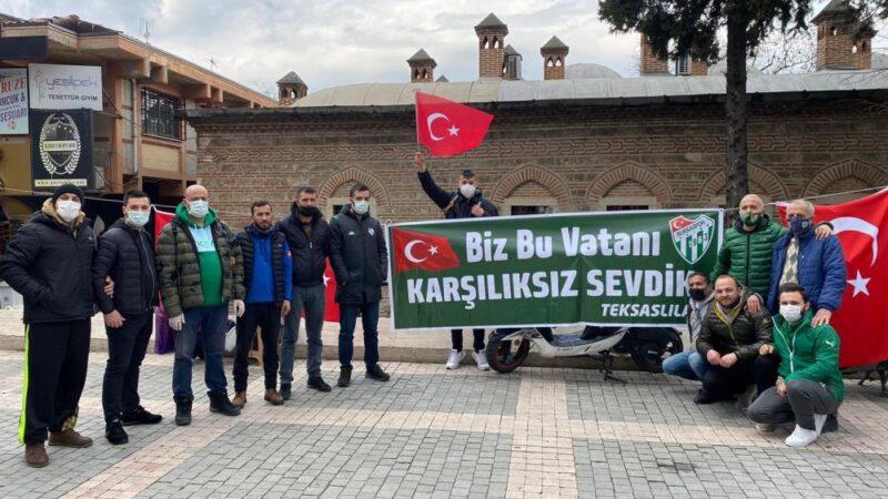 Bursaspor taraftarından örnek organizasyon…
