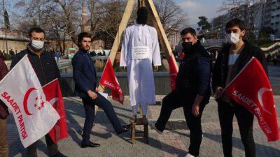 Bursa'da darağacı kurdular! Bakın ne için?