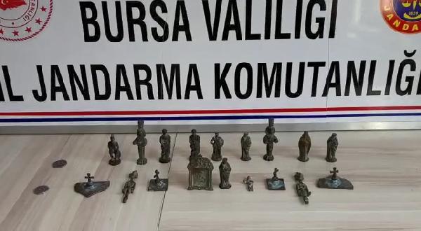 Bursa'da tarihi eser operasyonu!