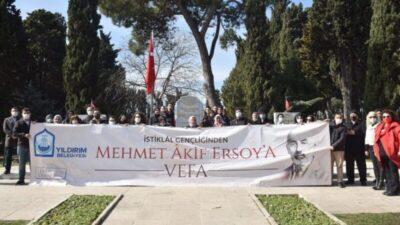 Yıldırım'dan Mehmet Akif Ersoy'a vefa
