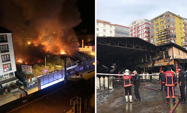 Ankara alev alev! 20 iş yeri yandı