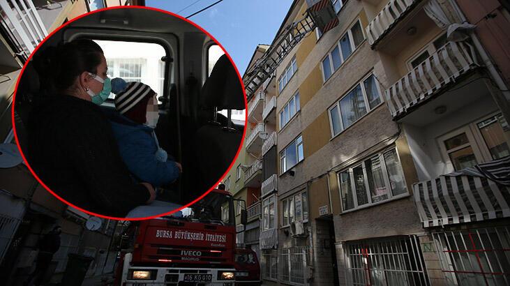 Bursa'da birlikte yaşadığı kadını ve çocuğunu eve kilitleyen adam tutuklandı