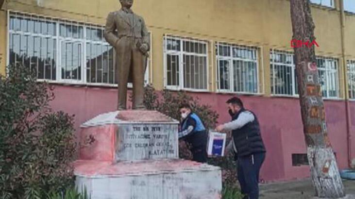 Atatürk heykeline çirkin saldırıda flaş gelişme