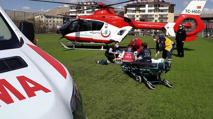 Helikopter stada indi! Ciddiyetini koruyor