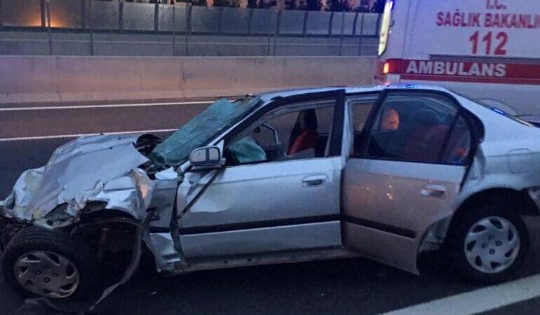 Feci kaza! Sürücü camdan fırladı