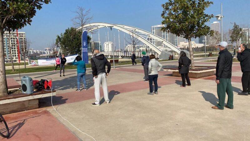 Bursa'da 65 yaş üstüne özel spor etkinliği
