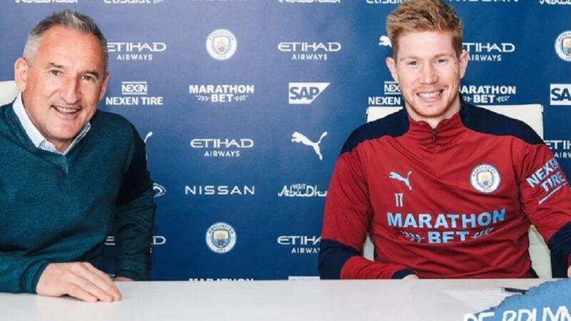 Man City, De Bruyne ile sözleşme yeniledi