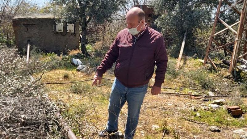 Bursa'da çiftçinin sulama borularını çaldılar