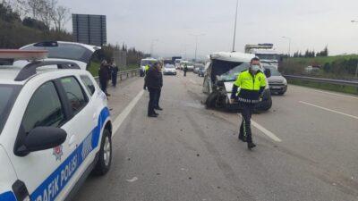 Bursa'da otobanda feci kaza