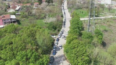 Görüntü Bursa'dan… Kilometrelerce kuyruk oluştu