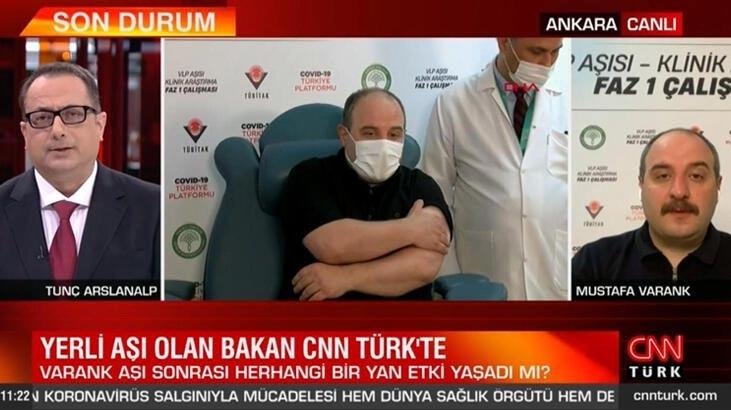 Yerli aşı olan Bakan Varank'tan açıklama! Herhangi bir yan etki yaşadı mı?