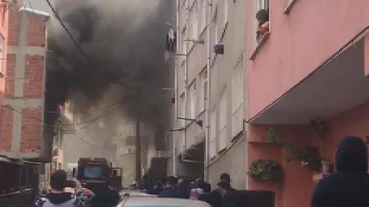 Korkutan yangın! 1'i bebek 5 kişi kurtarıldı