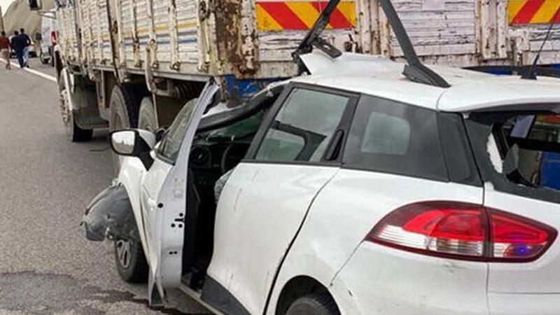 Feci kaza! Otomobil sürücüsü ağır yaralandı