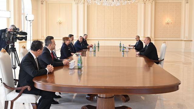 Azerbaycan Cumhurbaşkanı Aliyev, Bakan Pekcan ile görüştü