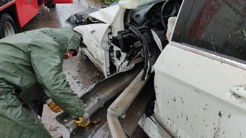 Bursa'da yağış beraberinde kaza getirdi