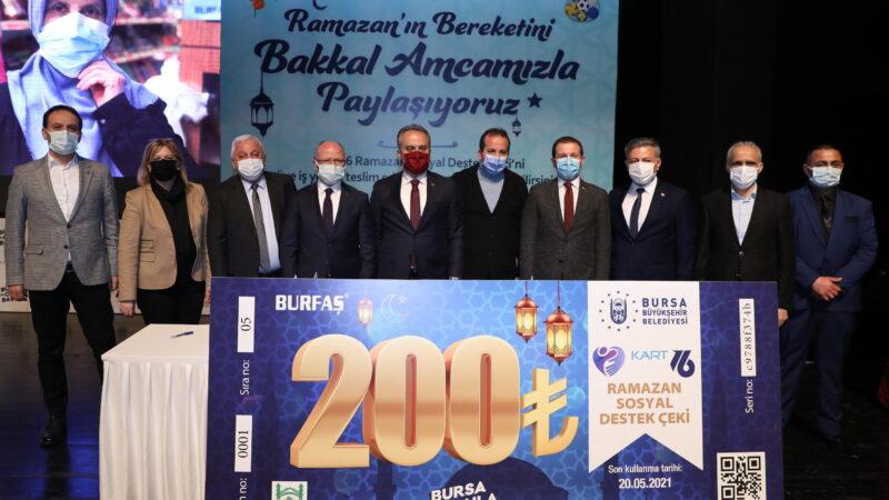 Bursa'da 100 bin aileye destek!
