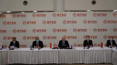 Ulaştırma ve Altyapı Bakanı Karaismailoğlu BTSO'yu ziyaret etti…