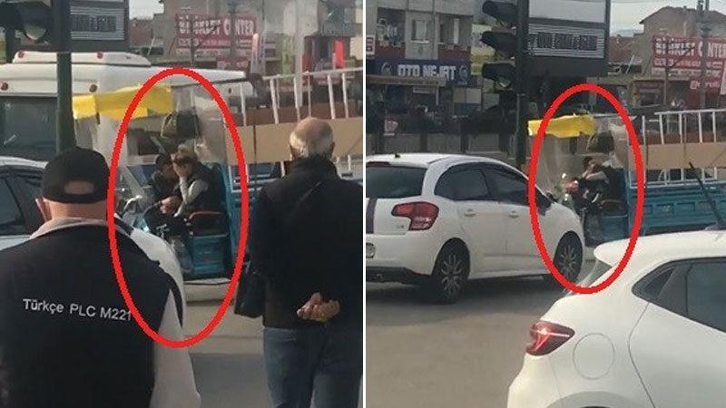 Görüntüler Bursa'dan… Kadına şiddet her yerde