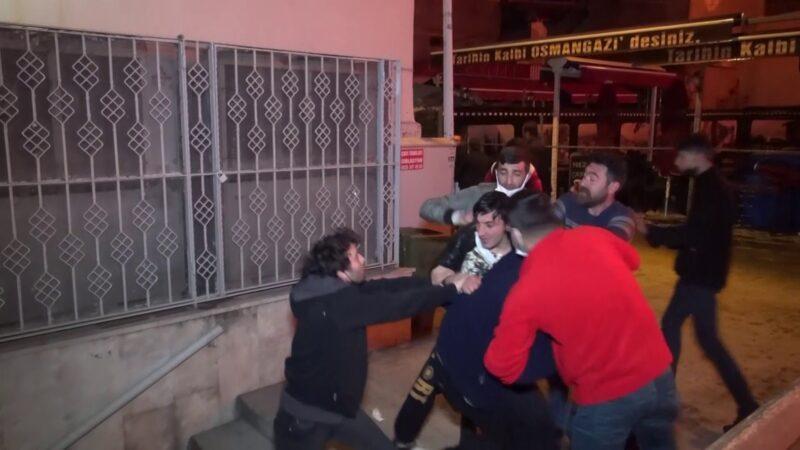 Bursa'daki yangında kavga çıktı!
