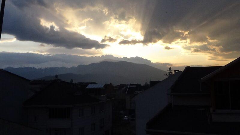 Bursa'da gün batımı mest etti