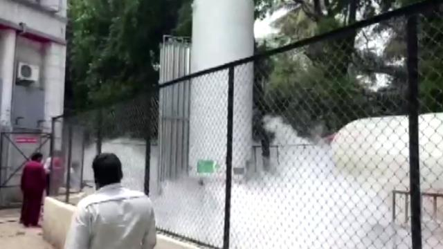 Oksijen tankında sızıntı: 22 hasta hayatını kaybetti