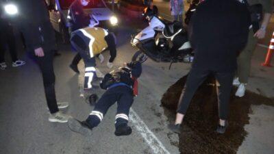 Bursa'da kazanın böylesi…Kısıtlama saatinde kuryeler çarpıştı