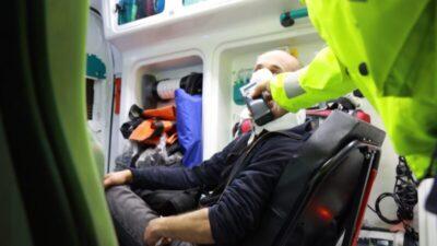 Bursa'da sürücüsü 'dur' ihtarına uymayan otomobil dereye uçtu