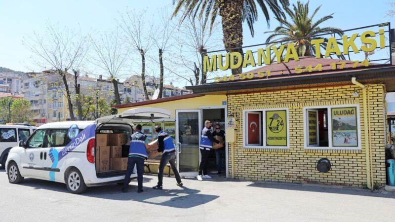 Mudanya Belediyesi şoför esnafıyla dayanışma içinde