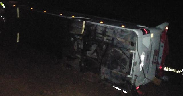 Yolcu otobüsü devrildi! 39 yaralı…