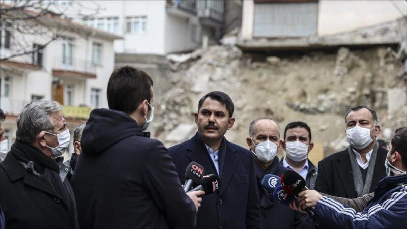 Bakanı Kurum'dan flaş açıklama: Etraftaki 11 binayı da riskli görüyoruz